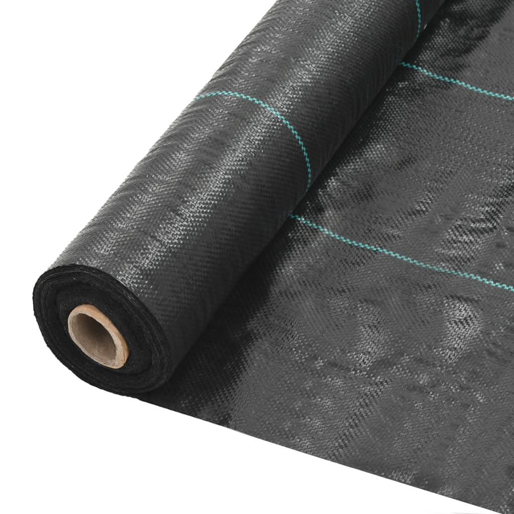 vidaXL Mulčovací textilie proti plevelu a kořenům černá 1 x 100 m PP
