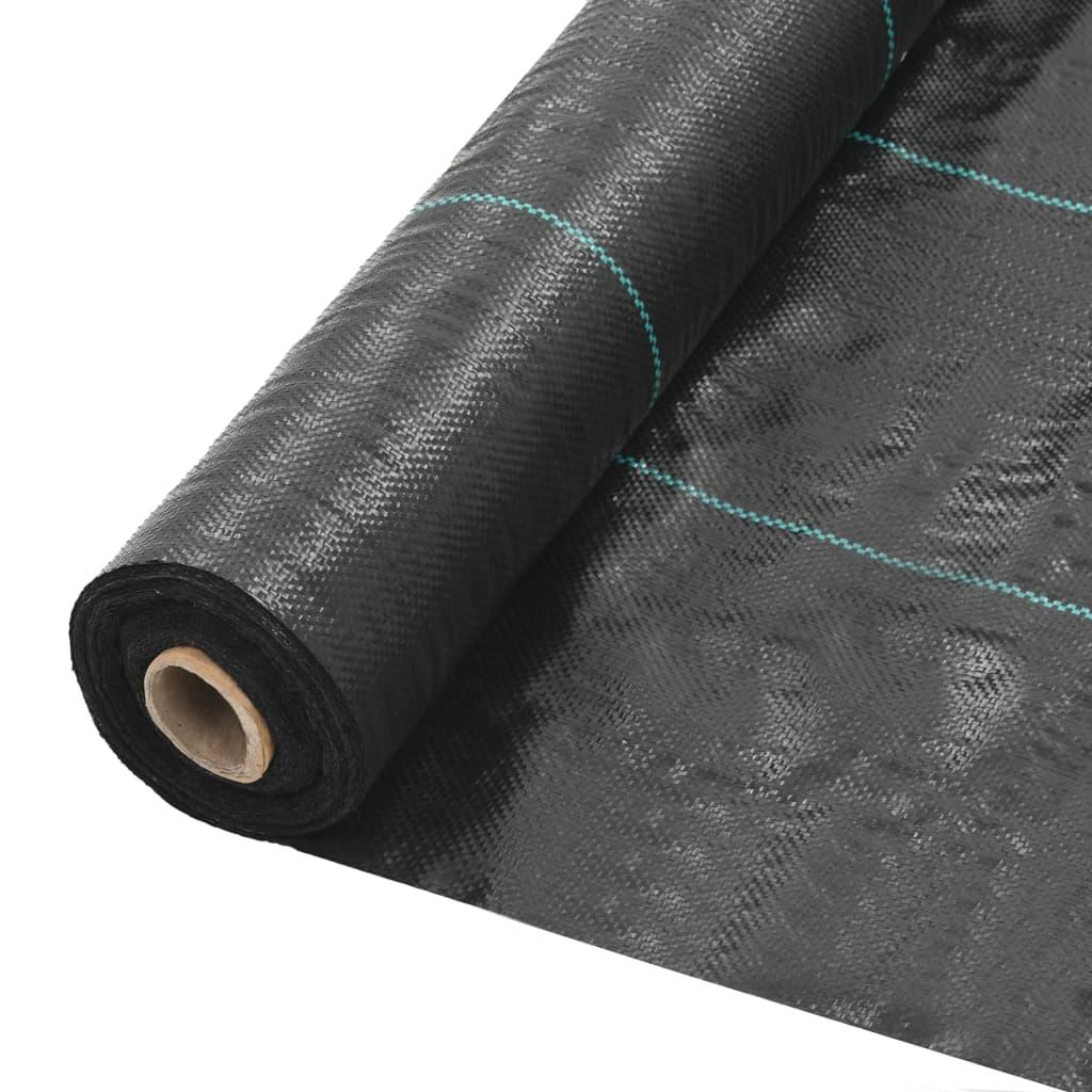 vidaXL Mulčovací textilie proti plevelu a kořenům černá 2 x 5 m PP