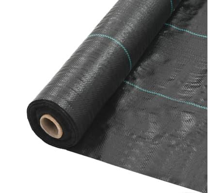 vidaXL Ogräsmatta PP 2x5 m svart