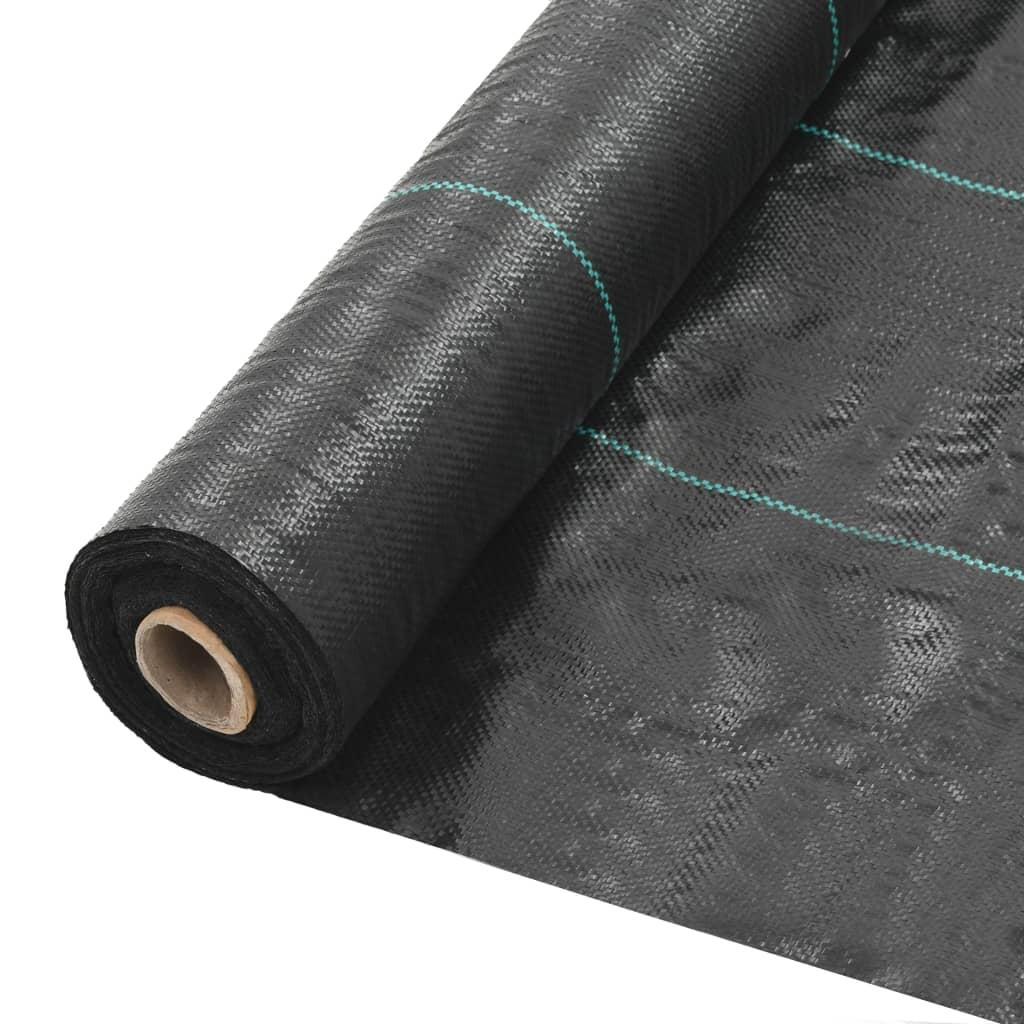 vidaXL Mulčovací textilie proti plevelu a kořenům černá 2 x 25 m PP