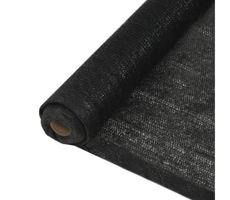 vidaXL Privacy Net HDPE 1x25 m Black