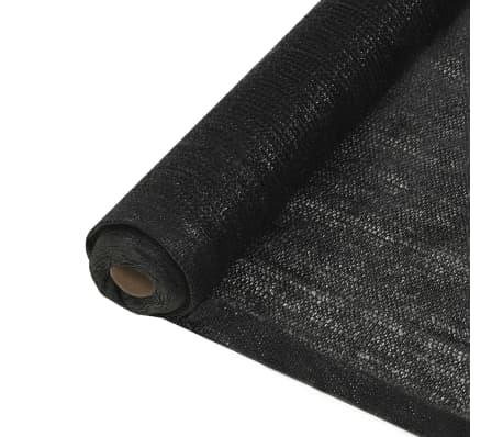 vidaXL Privacynet 1,5x10 m HDPE zwart