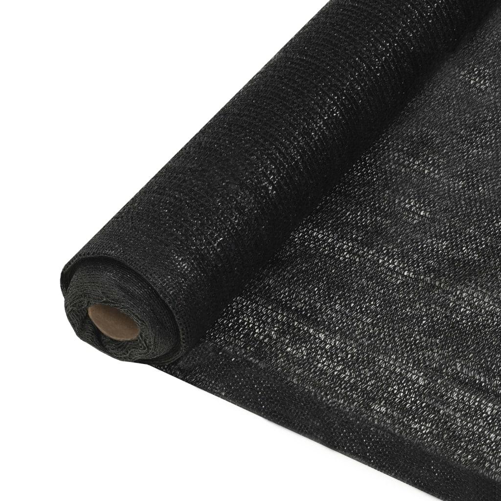 vidaXL Δίχτυ Σκίασης Μαύρο 1,5 x 25 μ. από HDPE