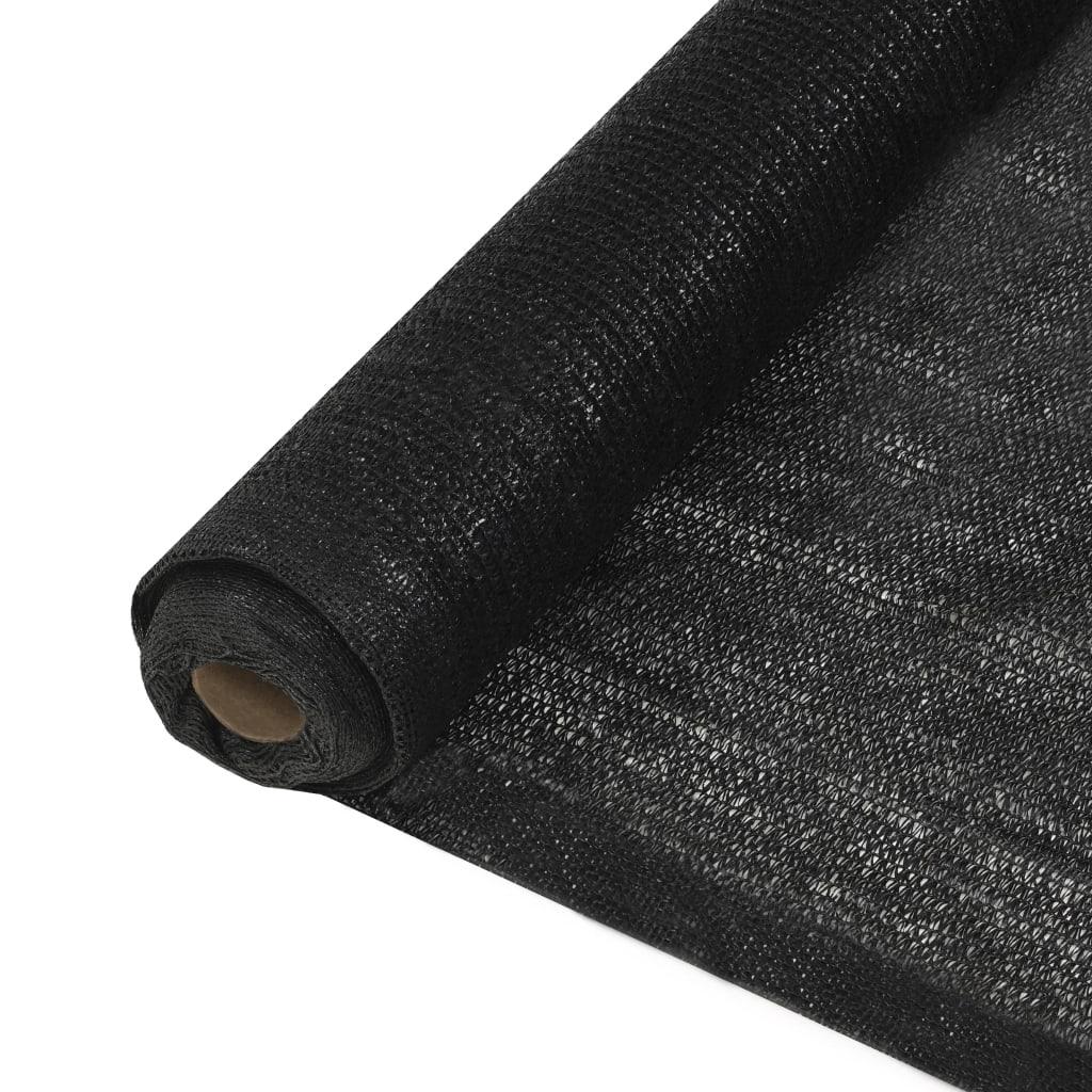 vidaXL Δίχτυ Σκίασης Μαύρο 2 x 50 μ. από HDPE