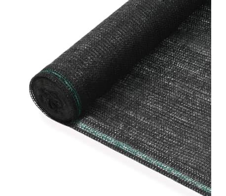 vidaXL Siatka ochronna do kortu tenisowego, HDPE, 1,2x25 m, czarna