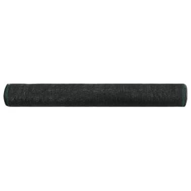 vidaXL Tennisnetz Schwarz 1,2 x 50 m HDPE[2/4]