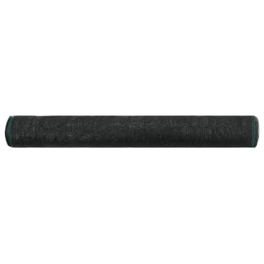 vidaXL Teniška zaščitna mreža HDPE 1,2x100 m črna[2/4]