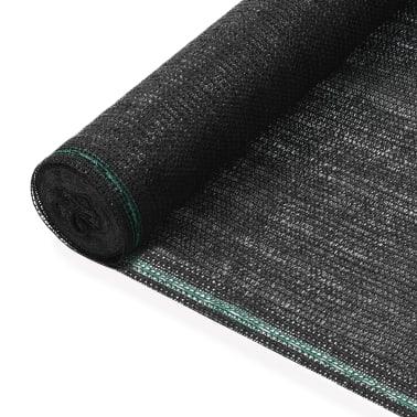 vidaXL Teniška zaščitna mreža HDPE 1,4x25 m črna[1/4]