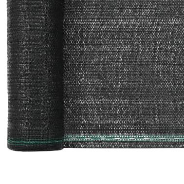vidaXL Teniška zaščitna mreža HDPE 1,4x25 m črna[3/4]