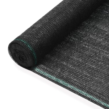 vidaXL Teniška zaščitna mreža HDPE 1,4x100 m črna[1/4]