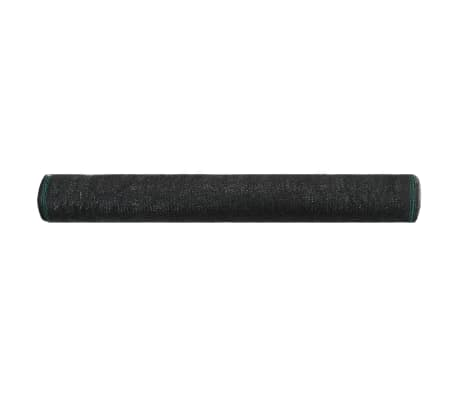 vidaXL Teniška zaščitna mreža HDPE 1,4x100 m črna[2/4]