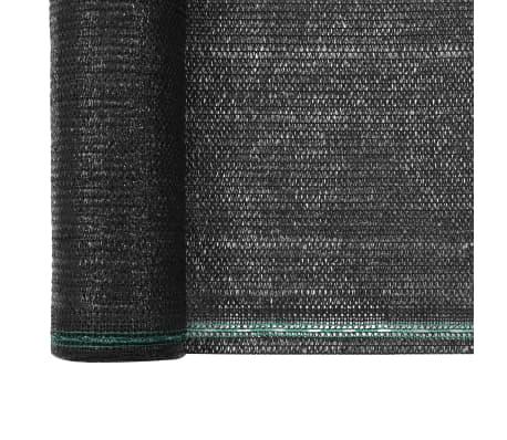 vidaXL Teniška zaščitna mreža HDPE 1,4x100 m črna[3/4]