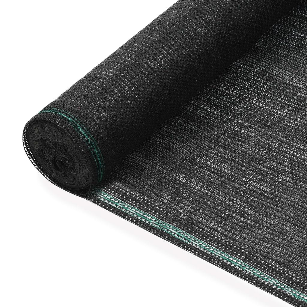 Tenisová zástěna černá 1,6 x 25 m HDPE