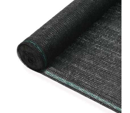 vidaXL Teniška zaščitna mreža HDPE 1,8x50 m črna