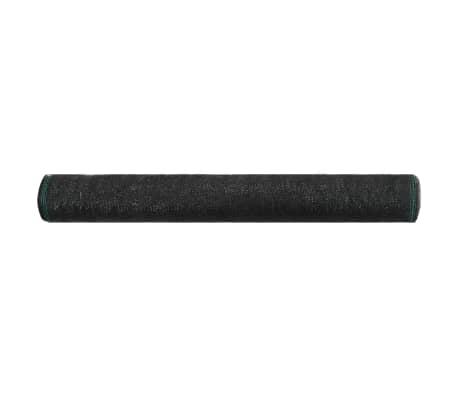 vidaXL Teniška zaščitna mreža HDPE 2x100 m črna[2/4]