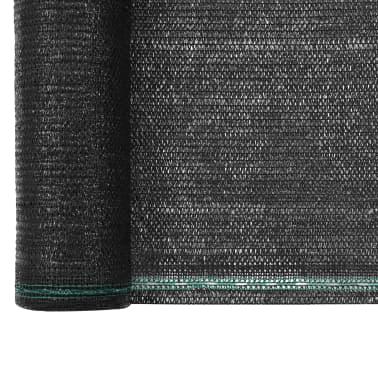 vidaXL Teniška zaščitna mreža HDPE 2x100 m črna[3/4]