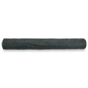 vidaXL Teniška zaščitna mreža HDPE 1x50 m zelena[2/4]