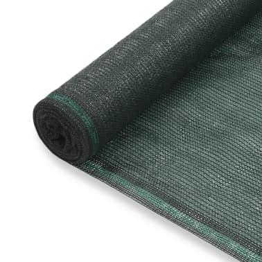 vidaXL Teniška zaščitna mreža HDPE 1,2x50 m zelena[1/4]
