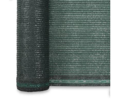vidaXL Teniška zaščitna mreža HDPE 1,4x25 m zelena[3/4]