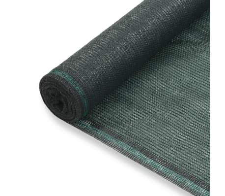 vidaXL Vindskydd för tennisplan HDPE 1,6x25 m grön