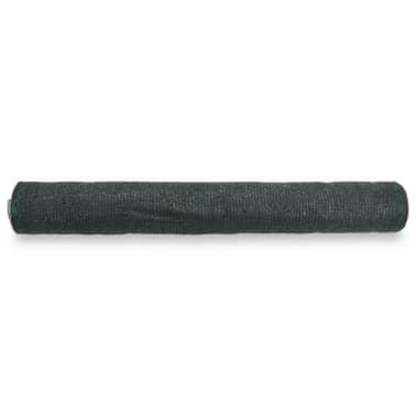 vidaXL Teniška zaščitna mreža HDPE 2x100 m zelena[2/4]