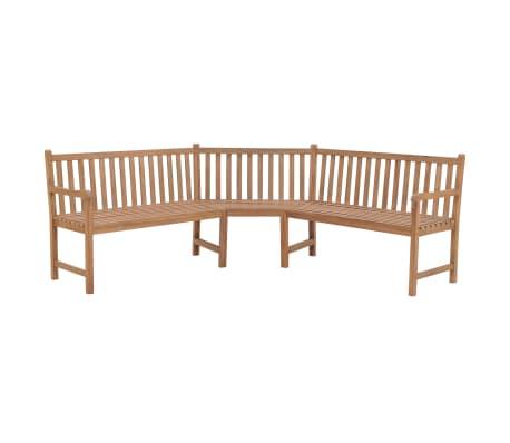 vidaXL Garden Corner Bench 202x202x90 cm Solid Teak