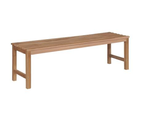 vidaXL Garden Bench 150 cm Solid Teak
