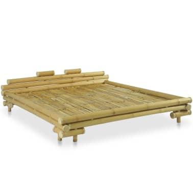 vidaXL Cadre de lit Bambou 180 x 200 cm[2/8]