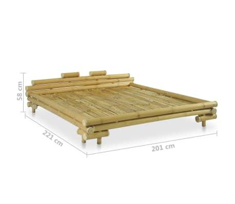 vidaXL Cadre de lit Bambou 180 x 200 cm[8/8]