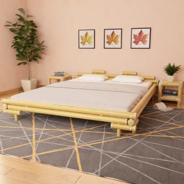vidaXL Cadre de lit Bambou 180 x 200 cm[1/8]