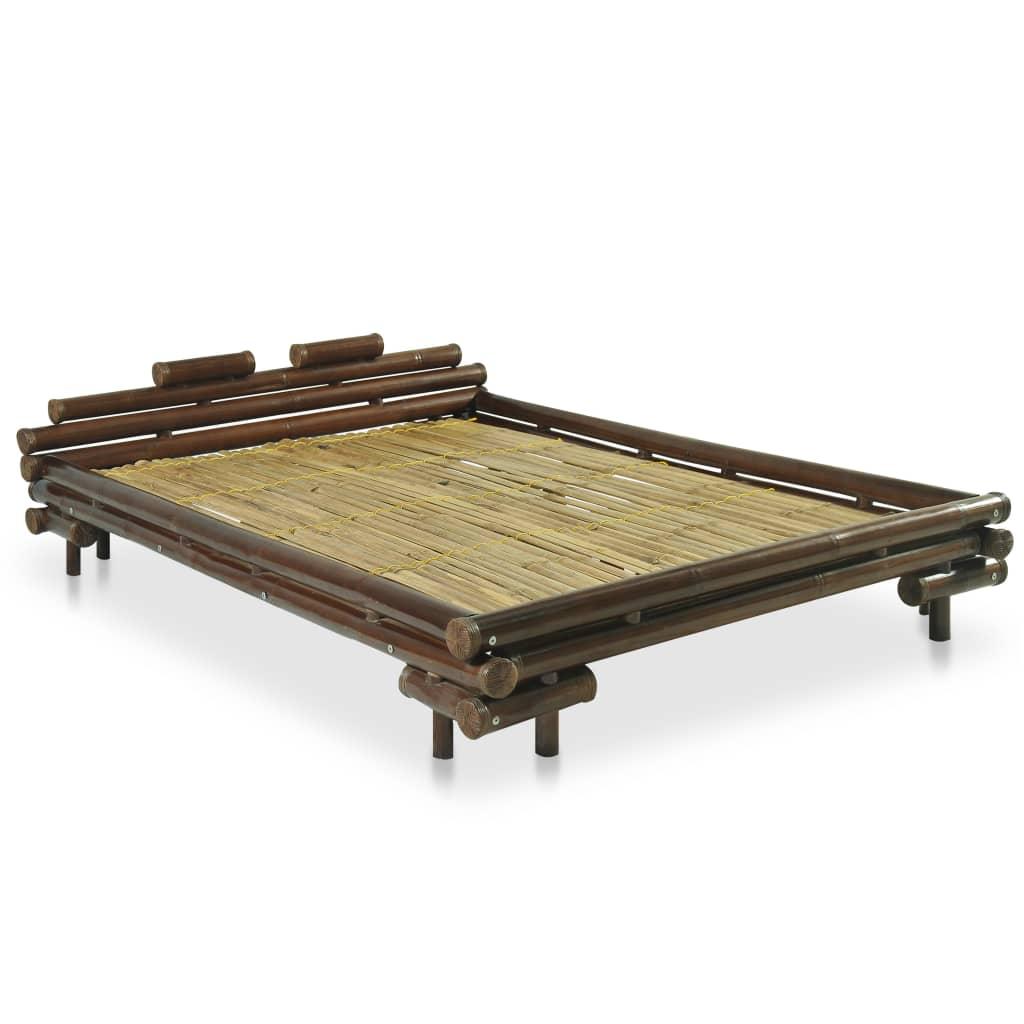 Afbeelding van vidaXL Bed bamboe donkerbruin 140x200 cm