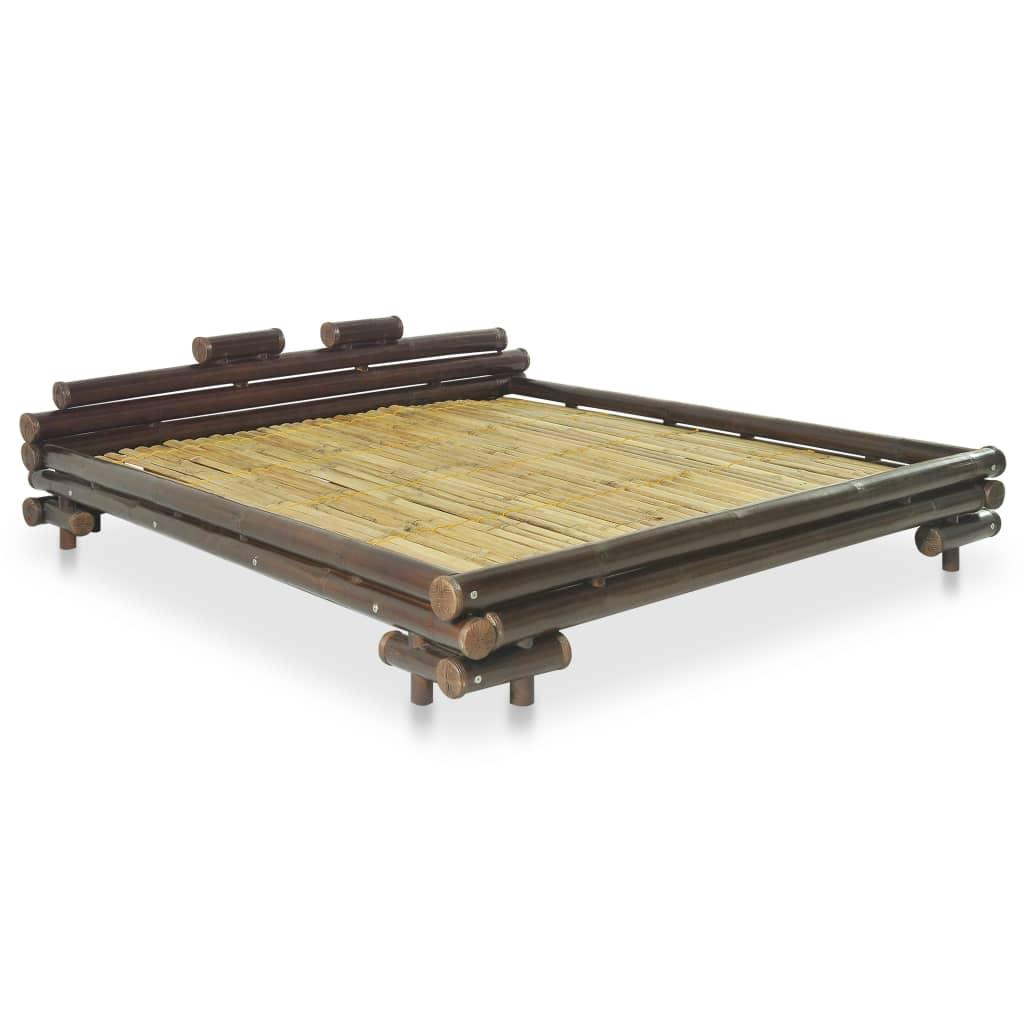 Afbeelding van vidaXL Bed bamboe donkerbruin 160x200 cm