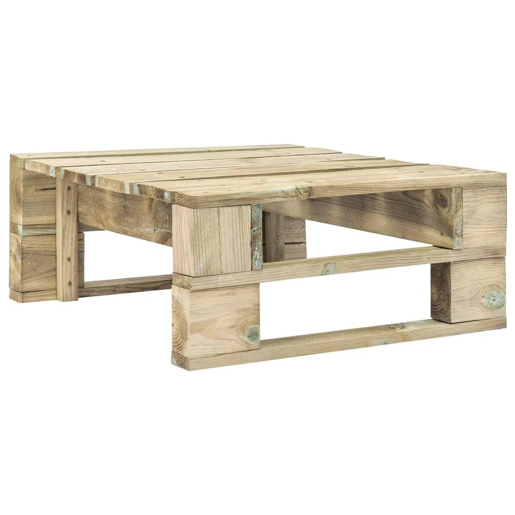 vidaXL Taburet de grădină din paleți, lemn poza 2021 vidaXL
