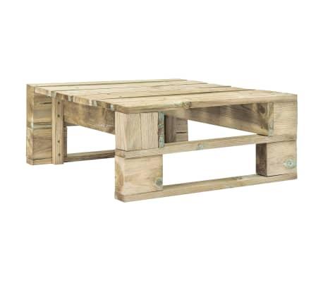 vidaXL Garden Pallet Ottoman Wood