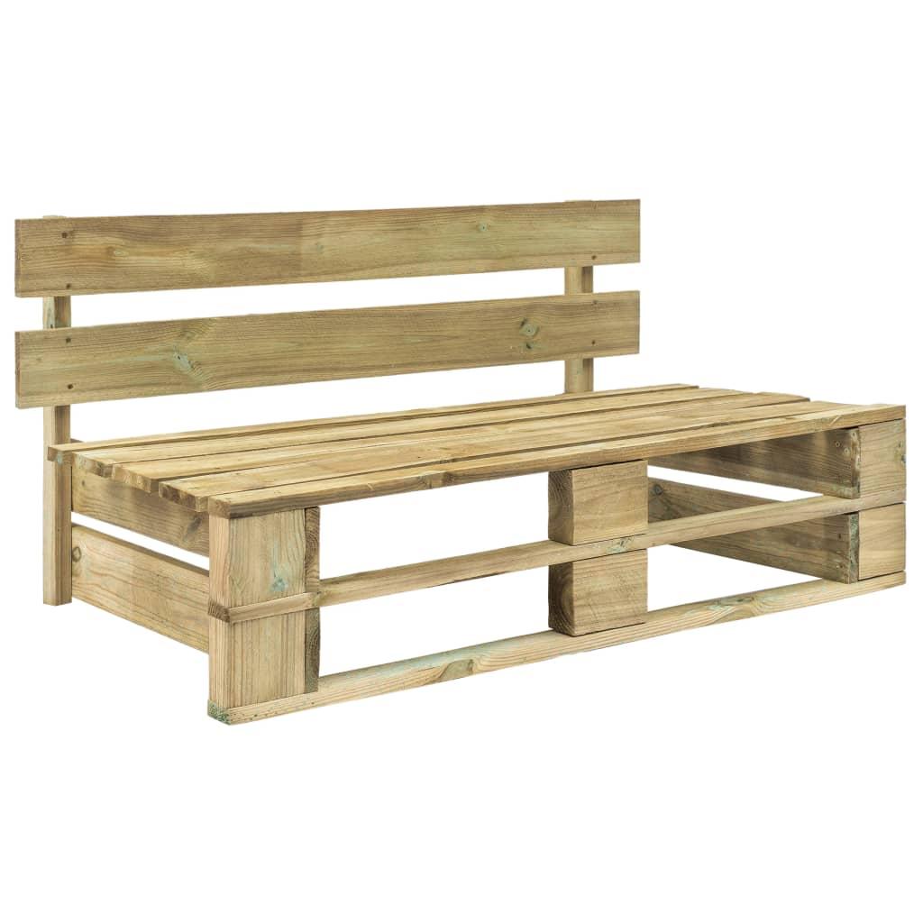 vidaXL Bancă de grădină din paleți, lemn vidaxl.ro