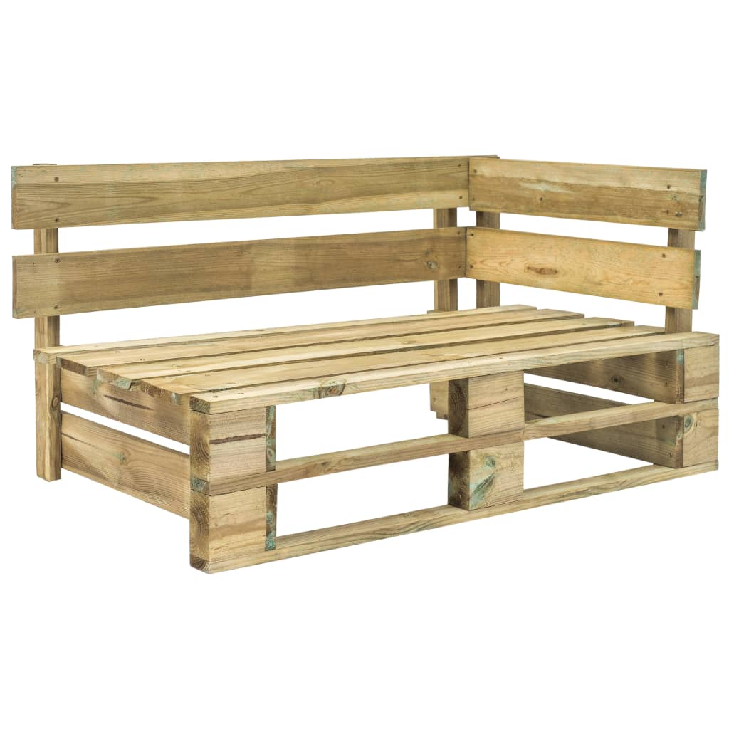Mobili Da Giardino Con Pallet dettagli su vidaxl legno di pino panca da giardino angolare con pallet  panchina esterni