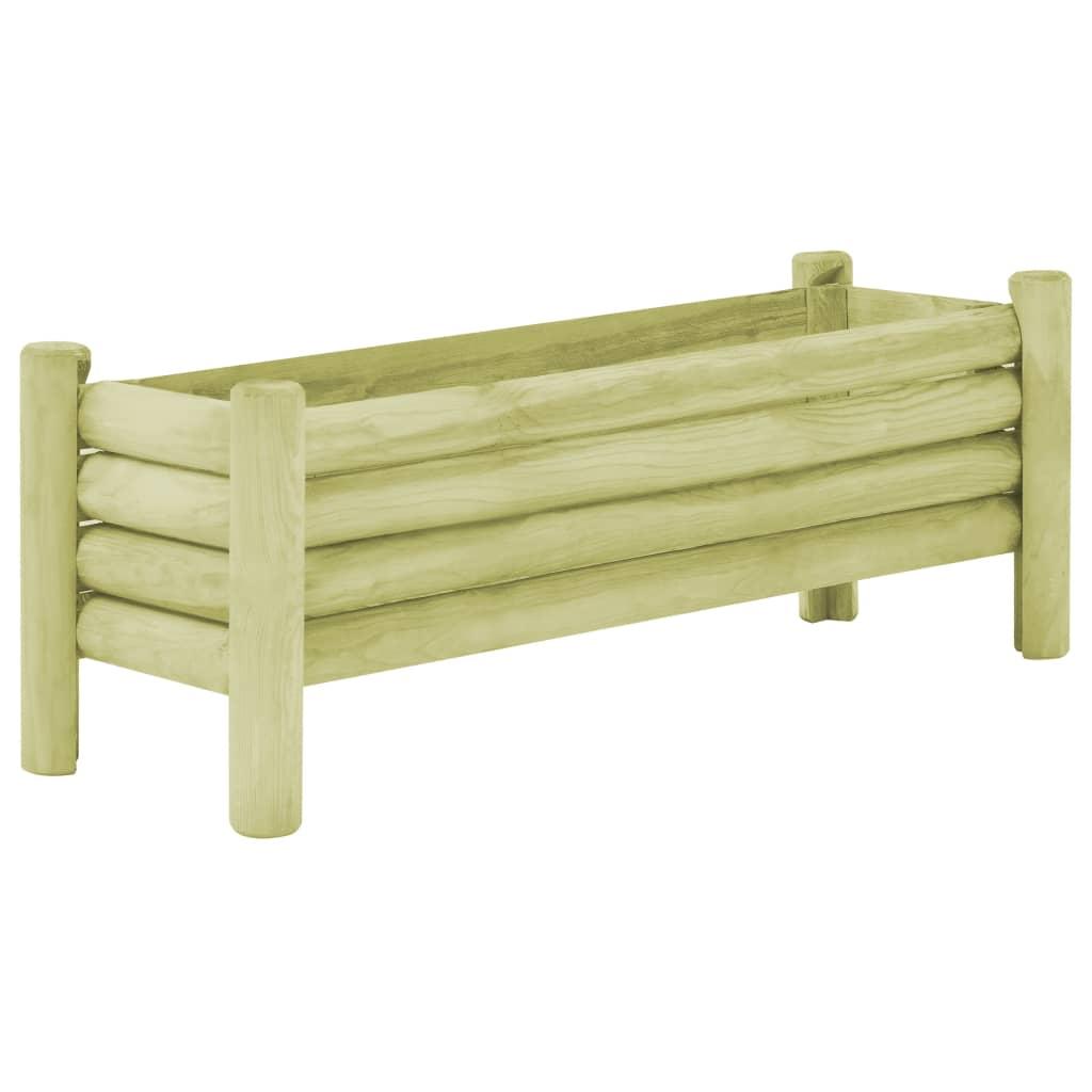 vidaXL Strat înălțat de grădină, 120 x 40 x 42 cm, lemn de pin tratat poza vidaxl.ro