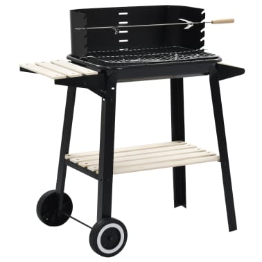vidaXL Charcoal BBQ Stand with Wheels[1/8]