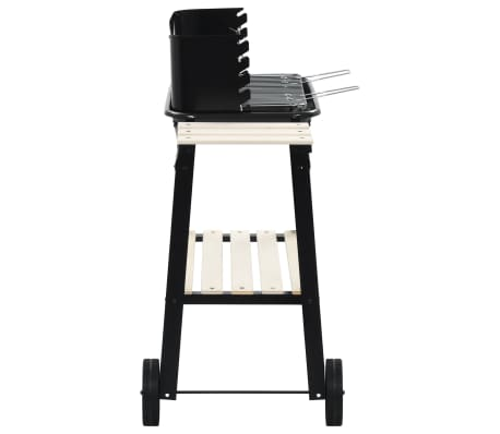 vidaXL Charcoal BBQ Stand with Wheels[3/8]