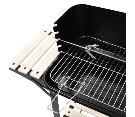 vidaXL Charcoal BBQ Stand with Wheels[6/8]