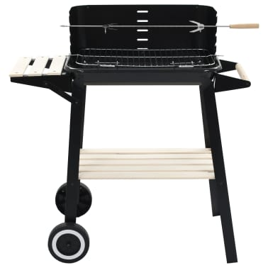 vidaXL Charcoal BBQ Stand with Wheels[2/8]
