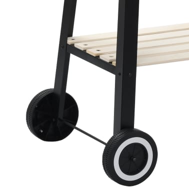 vidaXL Charcoal BBQ Stand with Wheels[4/8]