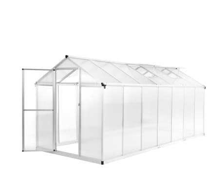 vidaXL Växthus aluminium 421x190x195 cm 15,6 m³