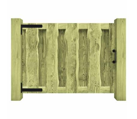 vidaXL Portillon Bois de pin imprégné 100 x 75 cm Vert