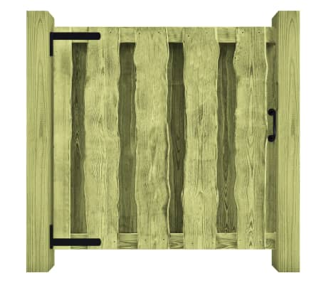 vidaXL Portillon Bois de pin imprégné 100 x 100 cm Vert