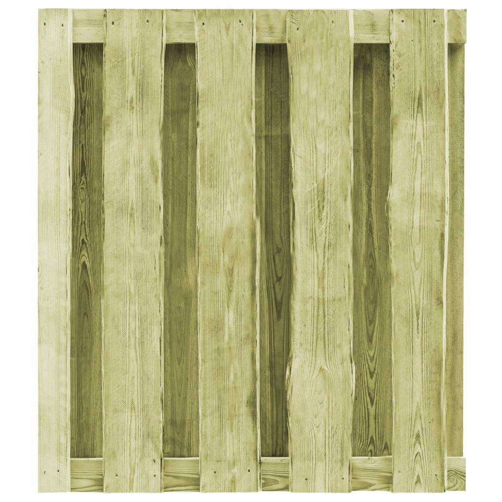 vidaXL Garden Gate FSC Impregnated Pinewood 100x75cm Arched Design Fence Door