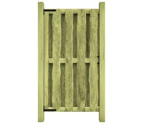 vidaXL Portão de jardim 100x150 cm pinho impregnado verde