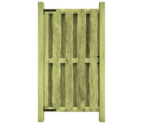 vidaXL Градинска порта, импрегниран бор, 100x150 см, зелена