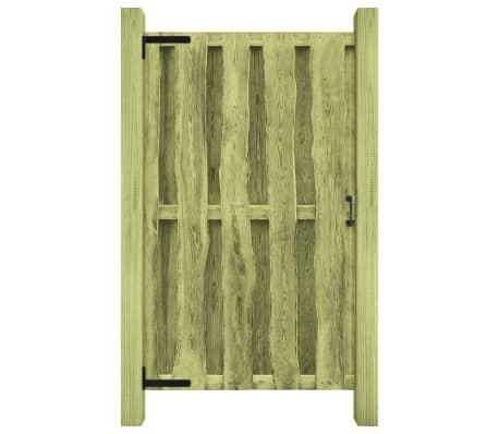 vidaXL Cancello da Giardino in Legno Impregnato 100x170 cm Verde[2/5]