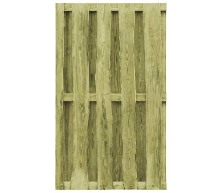vidaXL Cancello da Giardino in Legno Impregnato 100x170 cm Verde[3/5]
